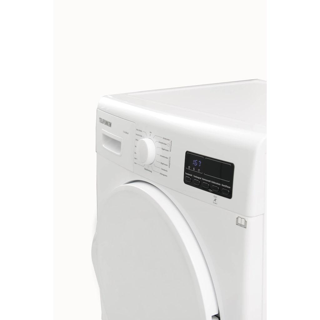 Telefunken Wärmepumpentrockner »T-12-300-W«, (7 kg /A++ / weiß)