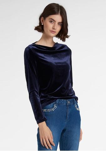 Uta Raasch Blusenshirt »mit Wasserfall - Ausschnitt« kaufen