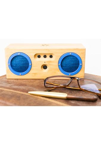 Schwaiger Tragbarer Bluetooth Lautsprecher Holz Bambus Bamboo Boxen kaufen