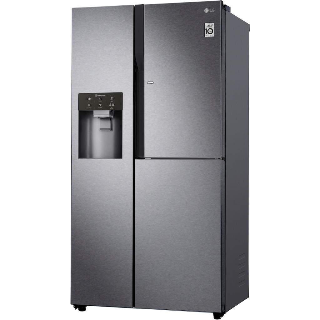 LG Side-by-Side, GSJ361DIDV, 179 cm hoch, 91,2 cm breit, Door-in-Door