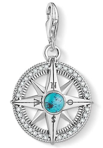 THOMAS SABO Charm-Einhänger »Kompass türkis, 1773-646-17«, mit imit. Türkis und Zirkonia kaufen