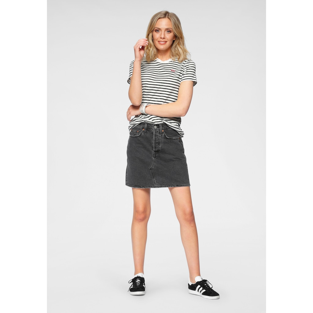 Levi's® Jeansrock »deconstructed Iconic Bf Skirt«, mit Knopfverschluss