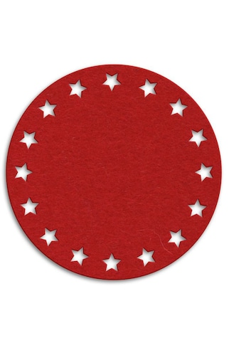 Wall-Art Tischdecke »Filzdecke Sternenkranz Rund«, (1 St.) kaufen