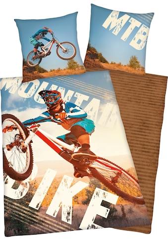 Herding Young Collection Jugendbettwäsche »Mountainbike«, Mit Mointainbikemotiv kaufen