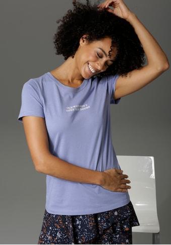 Aniston CASUAL Print-Shirt, mit Statement-Schriftzug kaufen