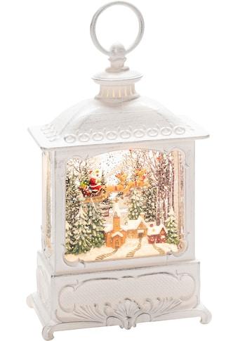 KONSTSMIDE LED Dekolicht, Warmweiß, Wasserlaterne Fliegender Weihnachtsmann über Dorf,... kaufen
