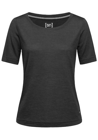 SUPER.NATURAL T-Shirt »W ESSENTIAL SCOOP TEE«, pflegeleichter Merino-Materialmix kaufen