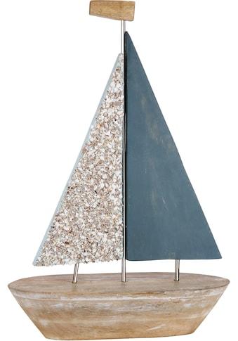 GILDE Dekoobjekt »Deko Segelschiff Nave«, Höhe 58 cm, aus Holz, Wohnzimmer kaufen