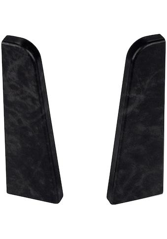 EGGER Endstücke »Stein schwarz«, für 6 cm Sockelleiste kaufen