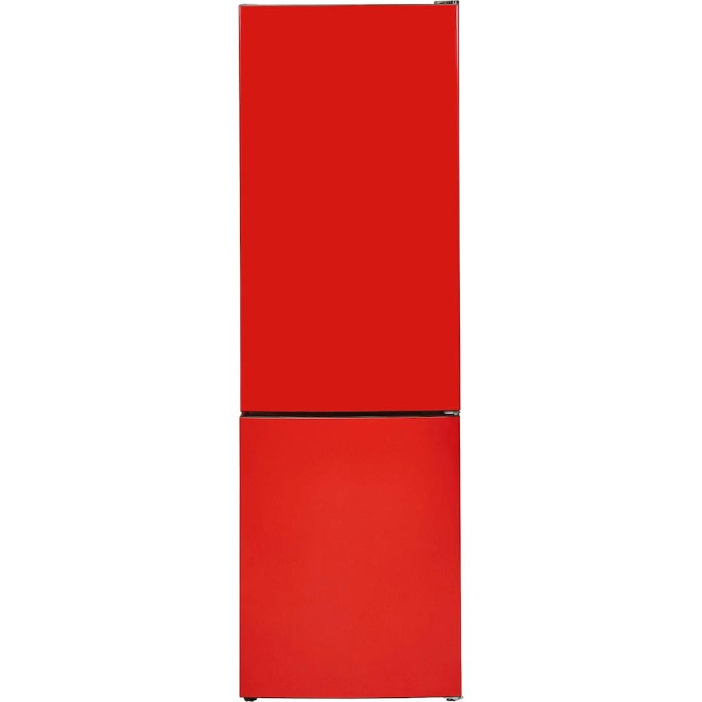 exquisit Kühl-/Gefrierkombination »KGC 265/50-5 NFA++«, KGC 265/50-5 NFA++ Rot, 180 cm hoch, 54,5 cm breit