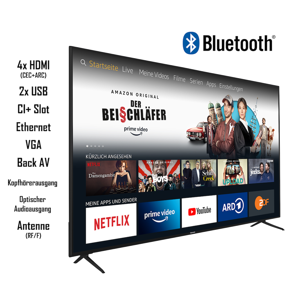 """homeX LED-Fernseher »UA65FT5505«, 164 cm/65 """", 4K Ultra HD, Smart-TV"""