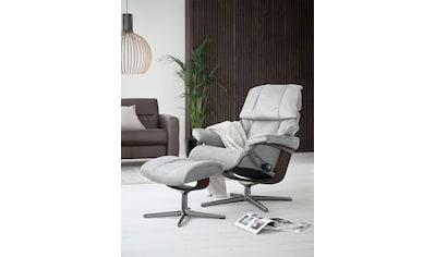 Stressless® Relaxsessel »Reno«, mit Hocker, mit Cross Base, Größe S, M & L, Gestell Wenge kaufen