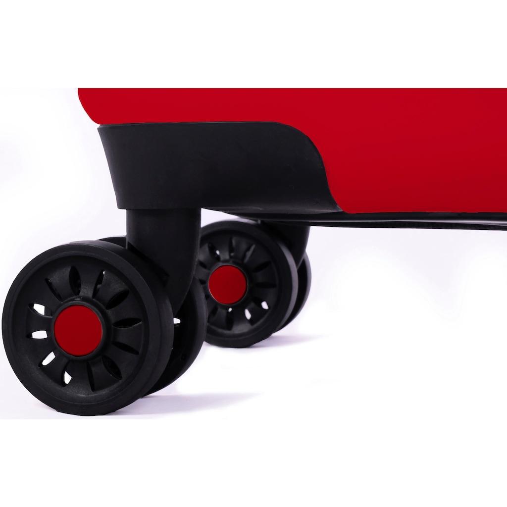 meinTrolley Hartschalen-Trolley »Rockparty, 55cm«, 4 Rollen, Made in Germany