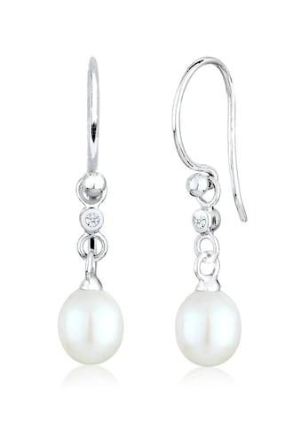 Diamore Paar Ohrhänger »Süßwasserzuchtperle Diamant (0.04 ct.) 925 Silber« kaufen