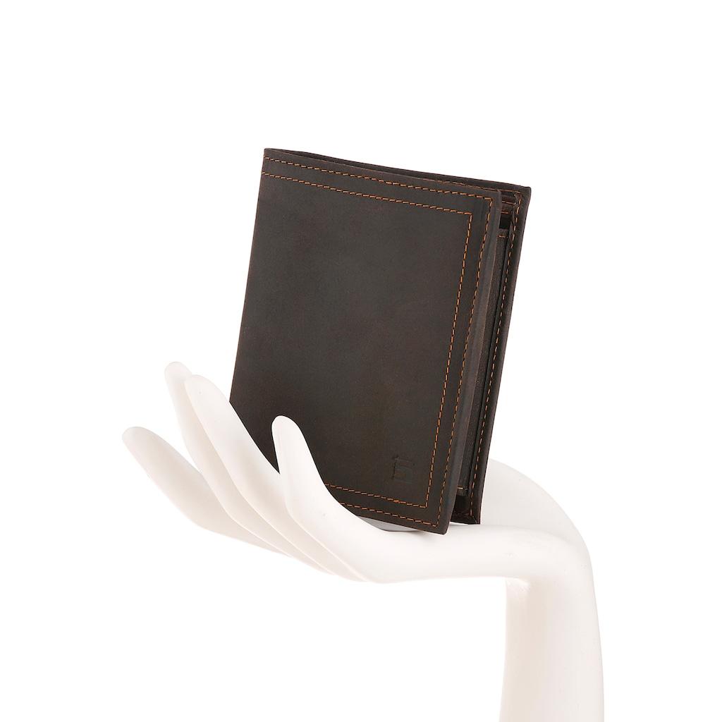 H.I.S Geldbörse, aus Leder im Hochformat