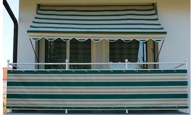 Angerer Freizeitmöbel Balkonsichtschutz »Nr. 8700«, Meterware, grün/beige, H: 75 cm kaufen