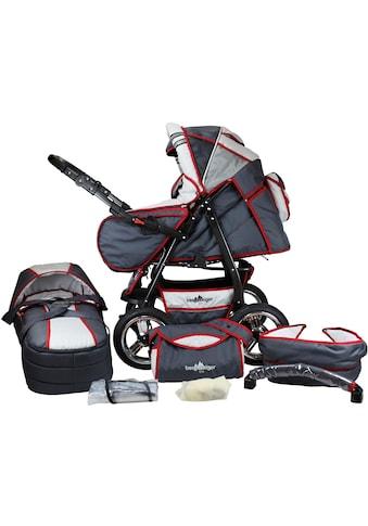 bergsteiger Kombi-Kinderwagen »Rio, grey & red stripes, 3in1«, mit Lufträdern; Made in Europe kaufen