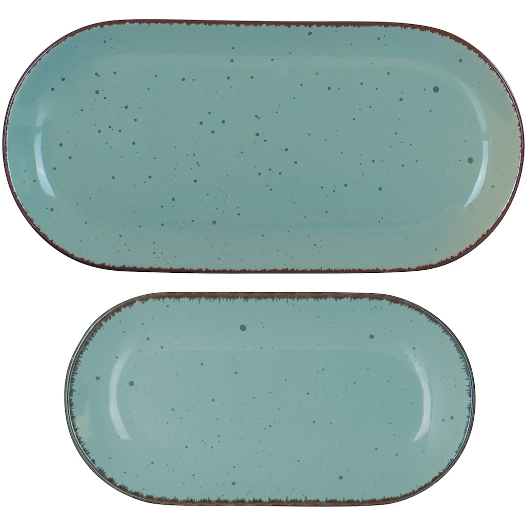 ARTE VIVA Servierplatte »Puro«, (Set, 2 tlg.), vom Sternekoch Thomas Wohlfarter empfohlen