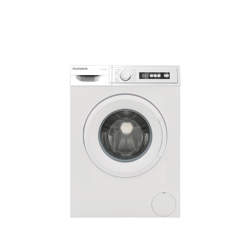 Telefunken Waschmaschine »W-6-1200-W«, W-6-1200-W, 6 kg, 1200 U/min, (6 kg / weiss)