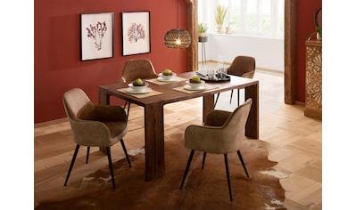 Home affaire Esstisch »Marbella«, aus massivem Akazienholz, in unterschiedlichen... kaufen