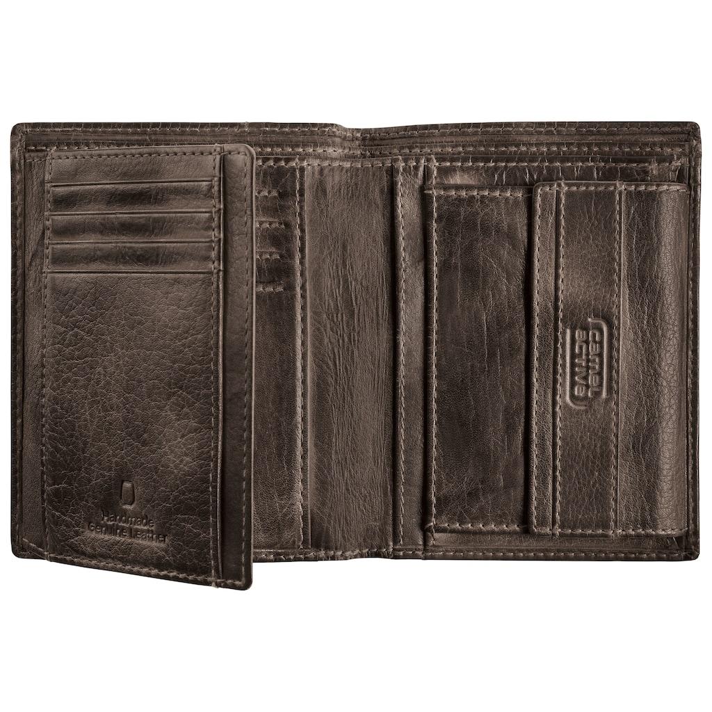 camel active Geldbörse »Melbourne, High form wallet«, aus Leder in Used Optik