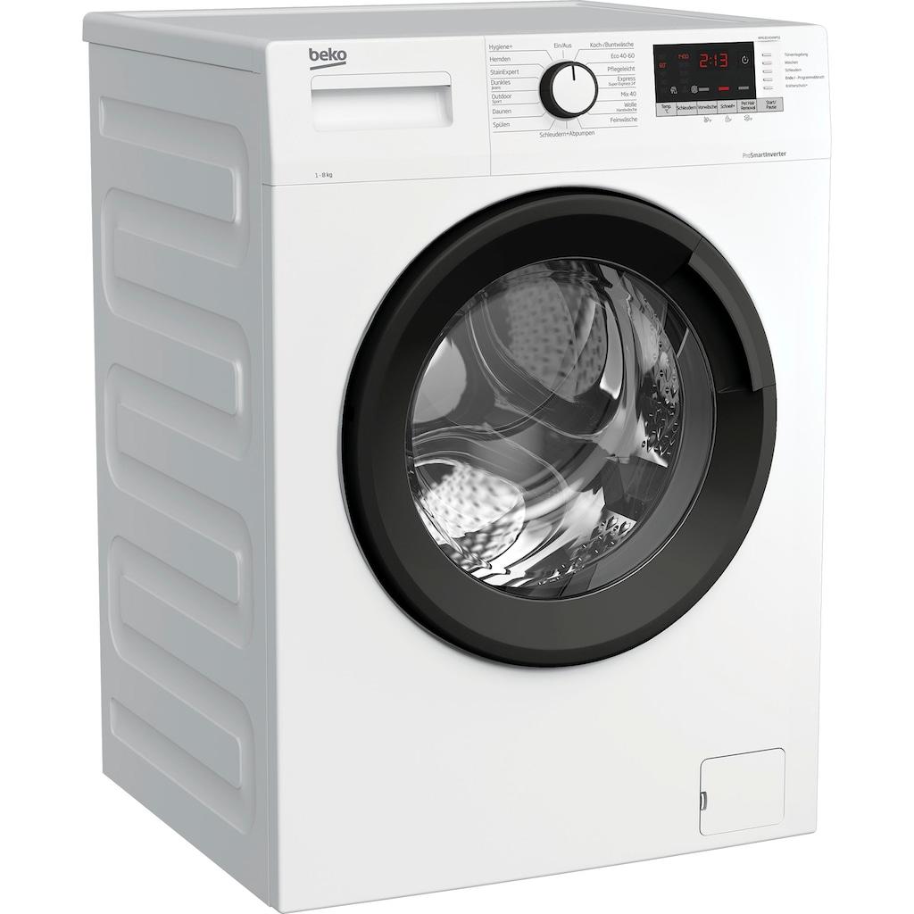 BEKO Waschmaschine »WML81434NPS1«, WML81434NPS1, 8 kg, 1400 U/min