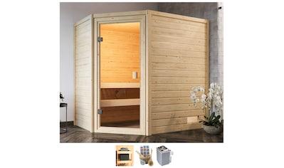 Karibu Sauna »Juli«, 4,5-kW-Ofen mit int. Steuerung kaufen