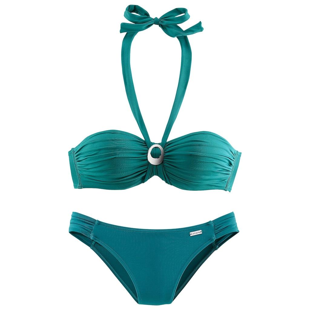 LASCANA Bügel-Bandeau-Bikini, mit Zierschnalle zwischen den Cups
