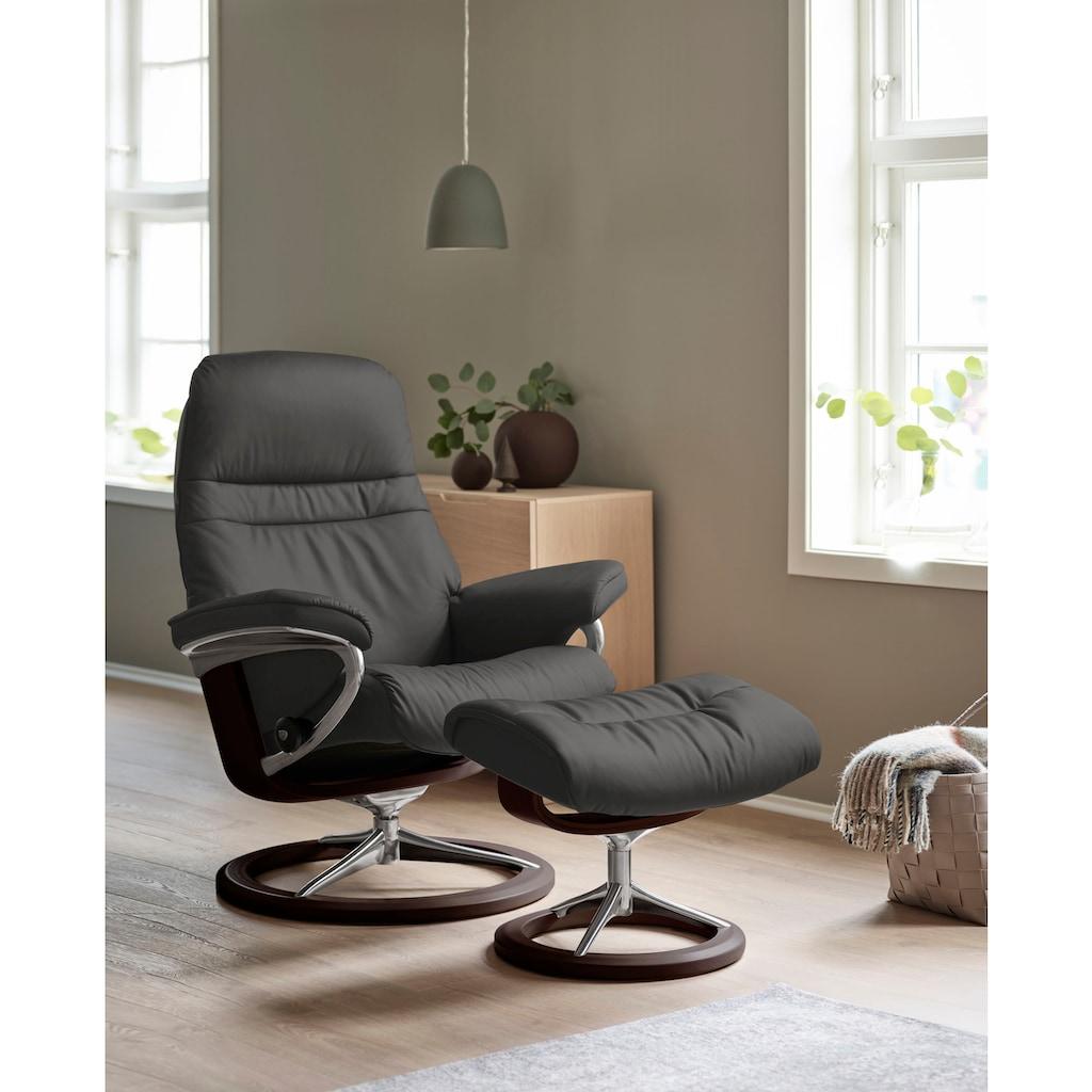 Stressless® Relaxsessel »Sunrise«, mit Signature Base, Größe M, Gestell Braun