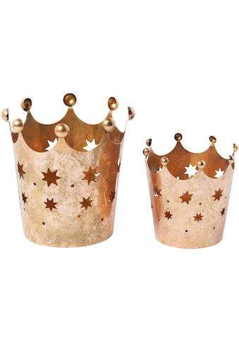 Windlicht »Kronen«, mit Stern-Dekor kaufen