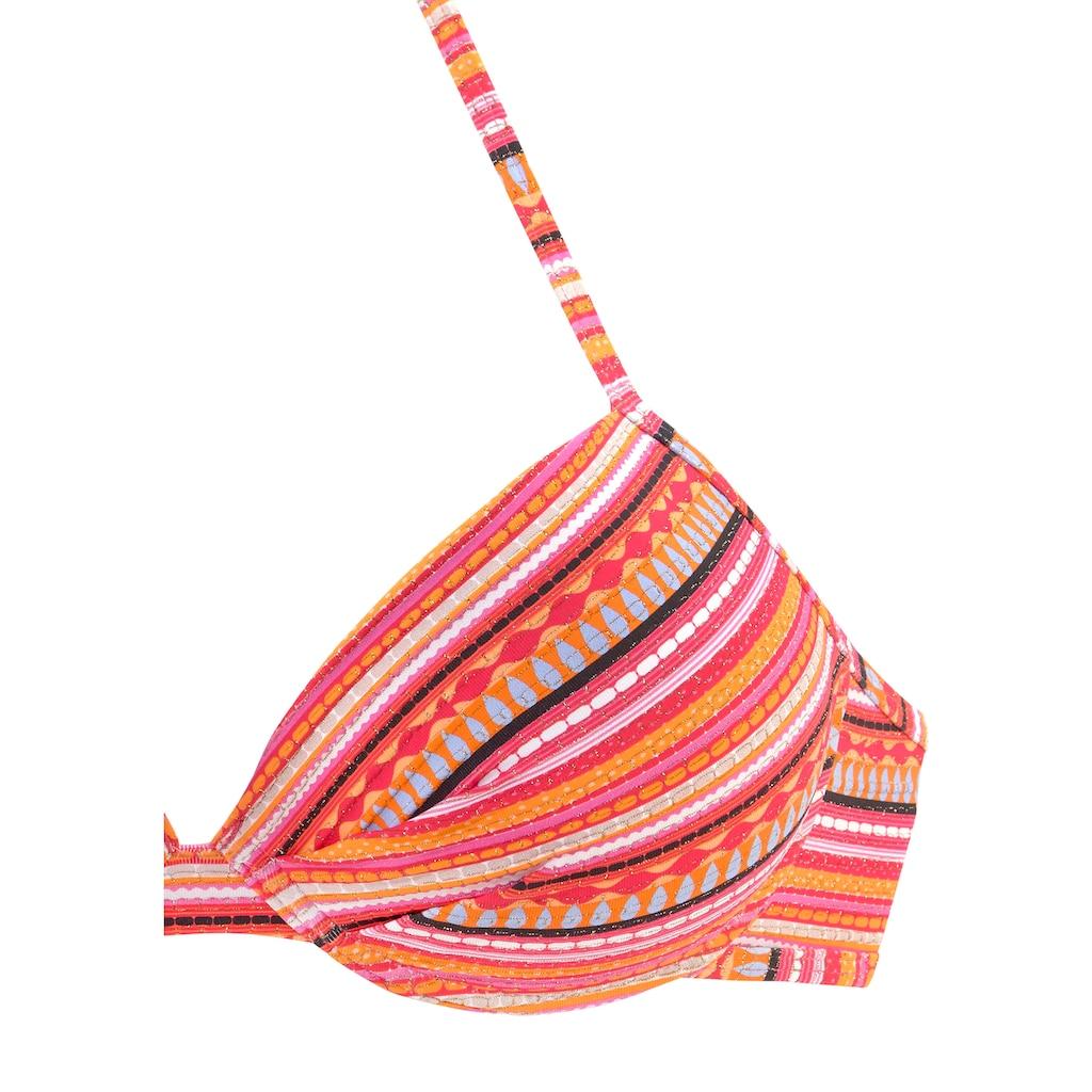 LASCANA Push-Up-Bikini, mit glitzernden Streifen