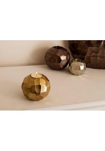 Home affaire Teelichthalter, gehämmert gold kaufen