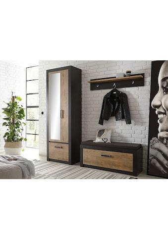 my home Garderoben-Set »BRÜGGE«, (Komplett-Set, bestehend aus Garderobenschrank mit... kaufen