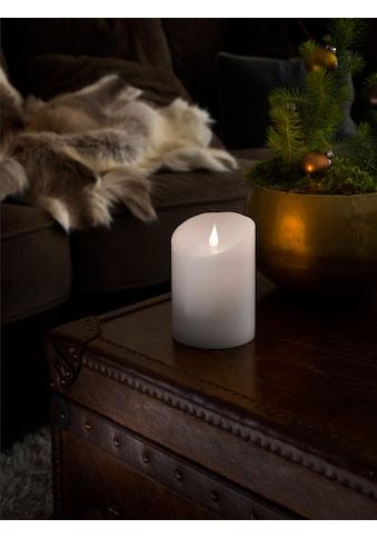 KONSTSMIDE LED-Kerze, LED Echtwachskerze, weiß, mit 3D Flamme, Ø 10 cm, Höhe: 14 cm kaufen
