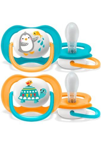 Philips AVENT Schnuller »SCF080/07«, ultra air Schnuller, 6 bis 18 Monate Boy, Kiefergerecht und BPA-frei, Doppelpack, Pinguin/Schildkröte kaufen