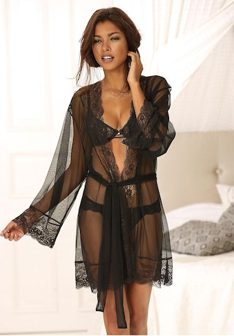 LASCANA Kimono, mit edler Spitze kaufen