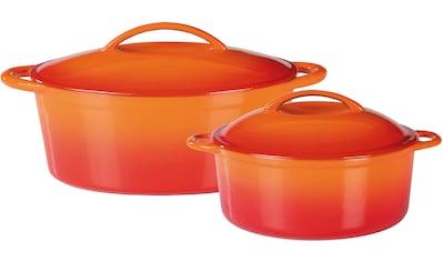 GSW Topf-Set »Orange Shadow«, Gusseisen, (Set, 4 tlg.), Induktion kaufen