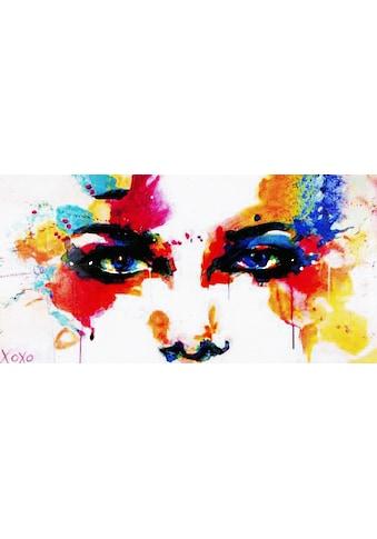 my home Gemälde »XOXO / Colourful Face«, (100/3,5/50 cm) kaufen