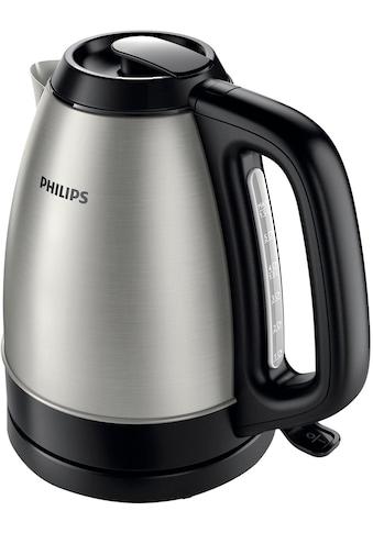 Philips Wasserkocher, HD9305/20 1,5 Liter, 2200 W, Edelstahl/schwarz, 1,5 Liter, 2200 Watt kaufen