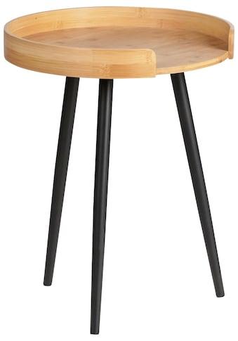 WENKO Beistelltisch »Loft«, ØxH: 40x50 cm, Bambus/Metall kaufen