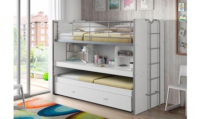 Vipack Hochbett »Bonn«, mit Schreibtisch und 3 Schlafgelegenheiten kaufen