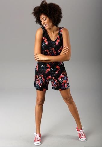 Aniston CASUAL Kurzoverall, mit bunten Blumendruck in 3D-Optik kaufen