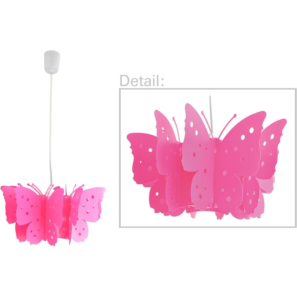 näve Pendelleuchte »Kizi«, E27, 1 St., Hängeleuchte, pink