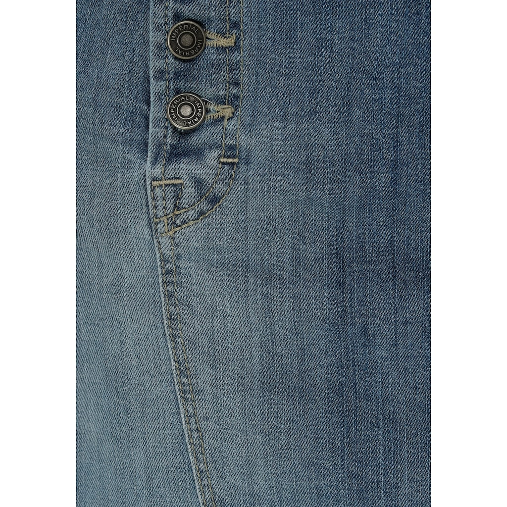 IMPERIAL Jeansrock »IMP-G 3728SKD01«, mit markanter Button-Fly-Knopfleiste