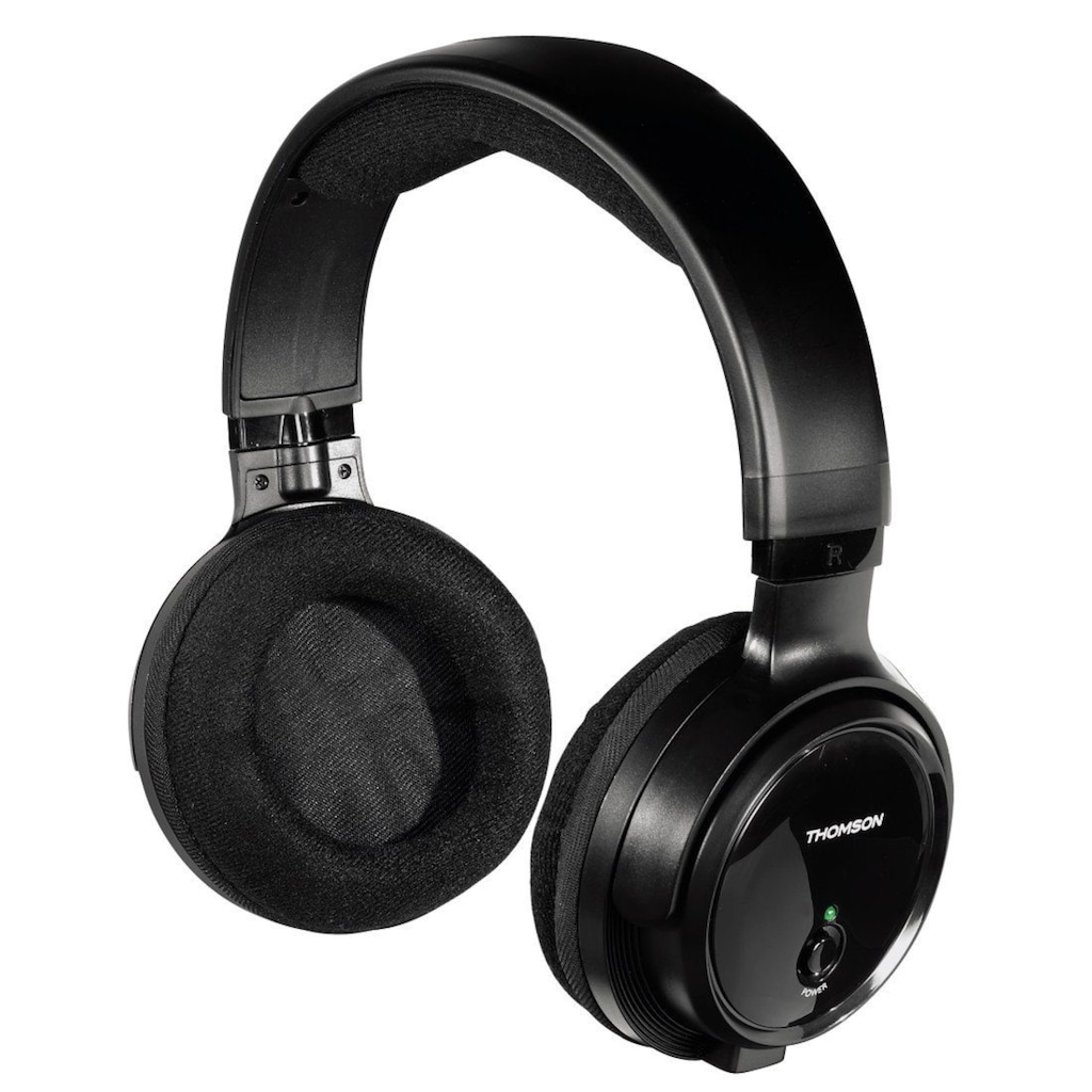 Thomson Funkkopfhörer WHP3001BK kabelloser Over-Ear Kopfhörer