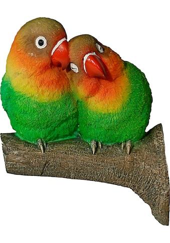 Casa Collection by Jänig Tierfigur, Tierfigur Papageienpärchen auf Ast (Baumbefestigung) kaufen