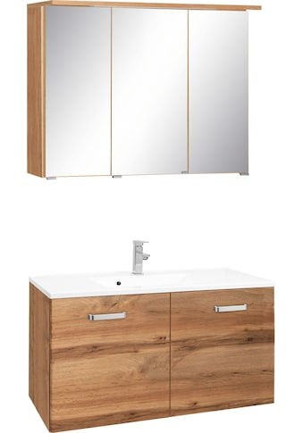 HELD MÖBEL Badmöbel-Set »Ravenna«, (2 St.), Breite 90 cm, Spiegelschrank und Waschtisch kaufen