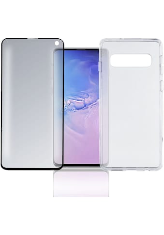 """4smarts Smartphone-Hülle »360° Premium Protection Set \""""CF\"""" Galaxy S10«, Galaxy S10, Cover kaufen"""