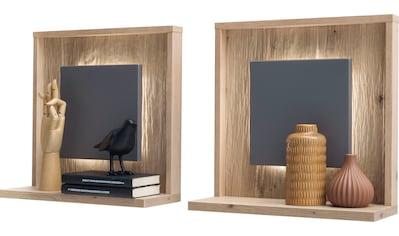 MCA furniture Wandboard »Lizzano«, (2 St.), in Balkeneiche Nachbildung, 3-D Rückwand... kaufen