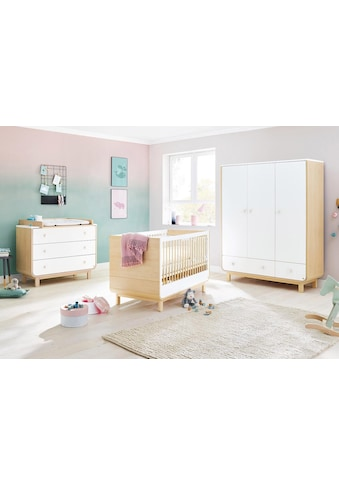 Pinolino® Babyzimmer-Komplettset »Round«, (Set, 3 St.), breit groß; mit Kinderbett,... kaufen